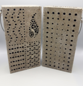 Nisthilfe Niststein Insektenhotel Element Narrow aus Holzbeton Aktion