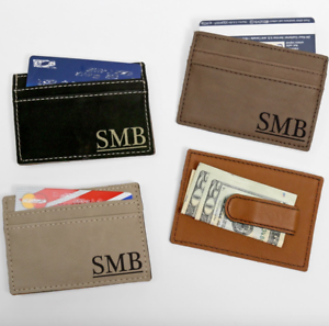 Personalized-Leatherette-Money-Clip-Wallet