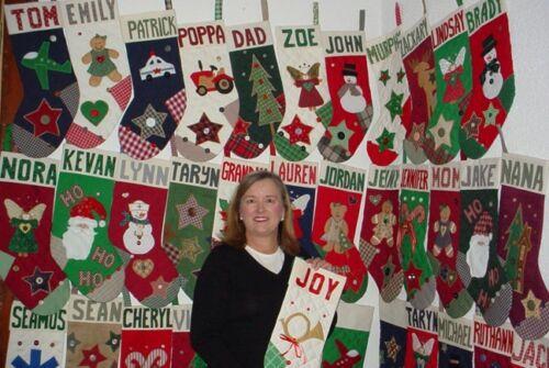 Aunt Joys Personalized Xmas Stockings. Tall Snowman Cowboy CHRISTMAS STOCKING