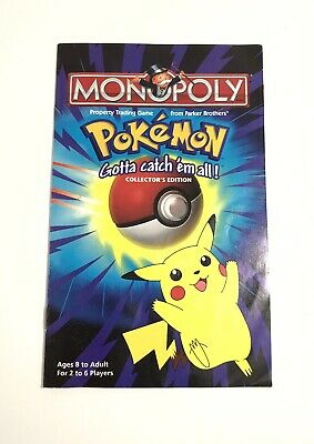 MONOPOLY POKEMON INSTRUCTION MANUAL BOOKLET REPLACEMENT 1999 HASBRO VINTAGE RARE
