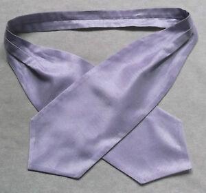 Ascot Foulard Homme Mariage Chouchou Ruché Taille Unique Lilas Violet Pâle-afficher Le Titre D'origine
