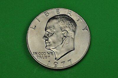1977p Eisenhower Dollar Uncirculated AU UNC BU