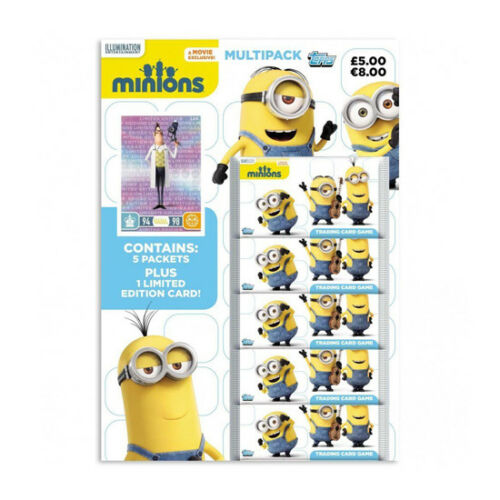 Topps Minions Trading Card Game Multipack 5 Packs + 1 Limited Edition Card