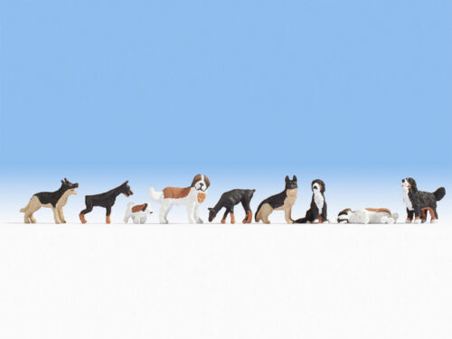 Figuren Hunde #NEU in OVP## NOCH 15717 Spur H0