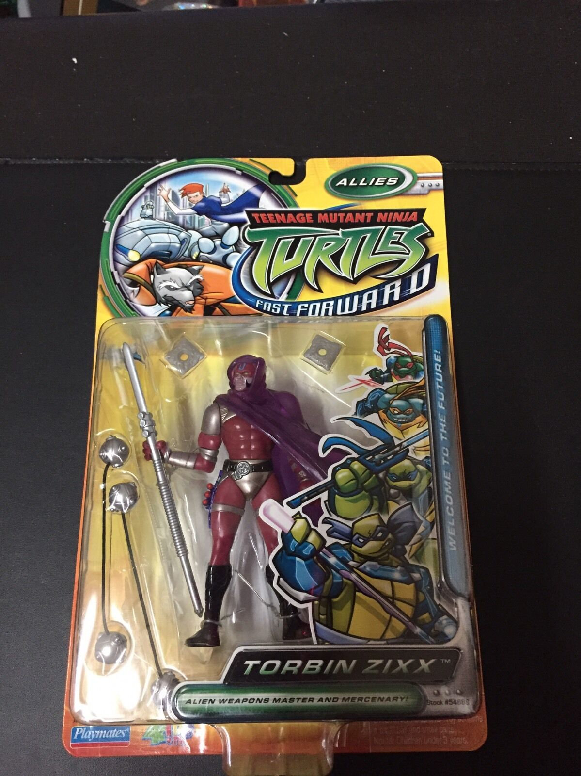 2006 Teenage Mutant Mutant Mutant Ninja Turtles Fast Forward Allies Torbin Zixx figure daa803