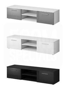 TV-Unit-Cabinet-TV-Stand-Entertainment-Lowboard-Vegas-150cm-Front-High-gloss
