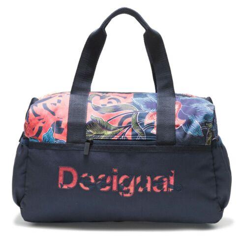 Desigual Geopatch Gym Bag Sporttasche Tasche Peacoat Blau Rot Neu