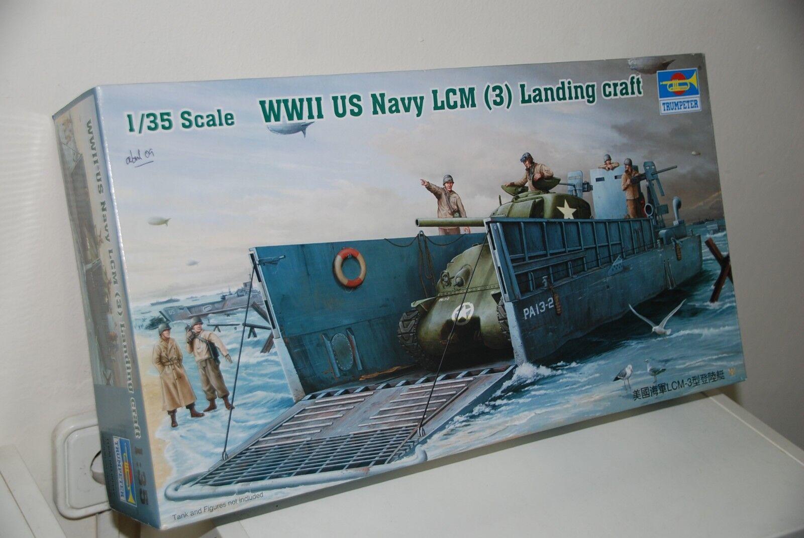 Trumpeter US Navy LCM Landy Craft WWII lancha barco desembarco model kit maqueta