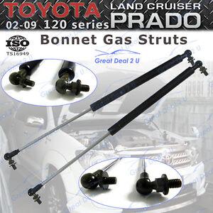 2-Bonnet-Gas-Struts-for-Toyota-Landcruiser-Prado120-Series-2002-09-Front-Damper
