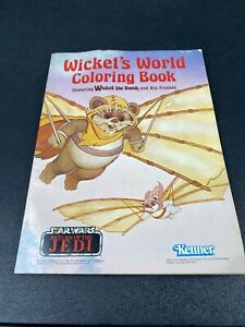 Wicket-039-s-World-Coloring-Book-Unused-Star-Wars-Return-of-the-Jedi-Kenner-LFL-1983