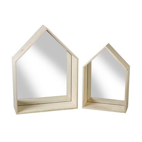 Miroir Maison Lot de 2 par Parlane