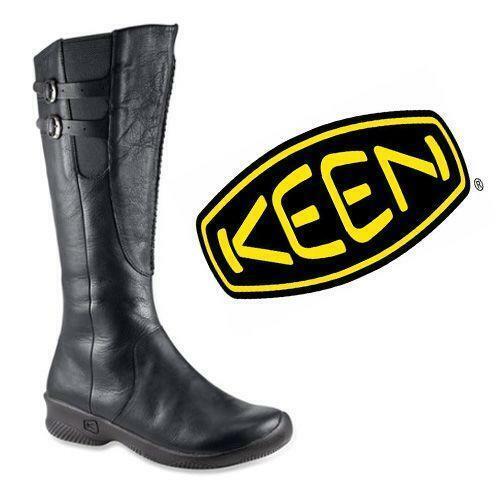 Keen Bern Baby Bern Tall Calf Leather Boots Black