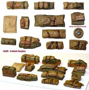 1-35-Scale-resin-kit-Tents-amp-Tarps-Set-8-Military-model-accessory