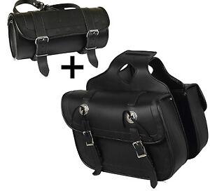 Moto-Sacoches-de-selle-1-paire-bagages-sacs-rouleau-des-outils