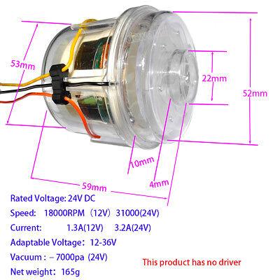 12V24V36V BrushlessDouble Turbo Fan DIY Vacuum Cleaner Hair Dryer Air HeaterGT   eBay
