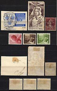 417-Francia-Lotto-di-6-francobolli-Linguellati-MH