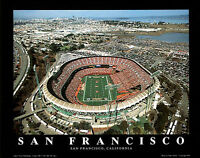 San Francisco 49ers CANDLESTICK PARK CLASSIC Stadium Aerial View Poster Print