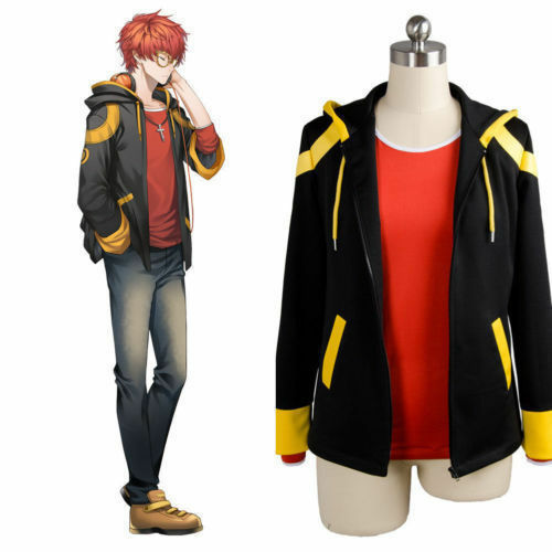 MYSTIC MESSENGER 707 Luciel Choi Saeyoung Cosplay Zip Hooded Coat Jacket Costume