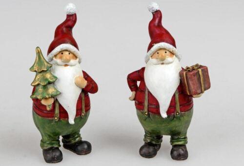 780393 Weihnachtsmann 15cm Rot aus Kunststein gefertigt handbemalt Stückpreis