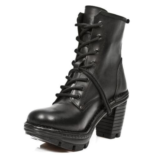 Newrock gotici Black Ladies punk Neotr008 s18 in Stivali Rock Trail New pelle arq6aO