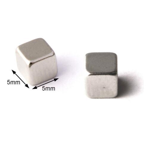 10pcs 5x5x5 mm günstige Würfel Magnete Neodym N 42 für Modellbau Blitzlieferung