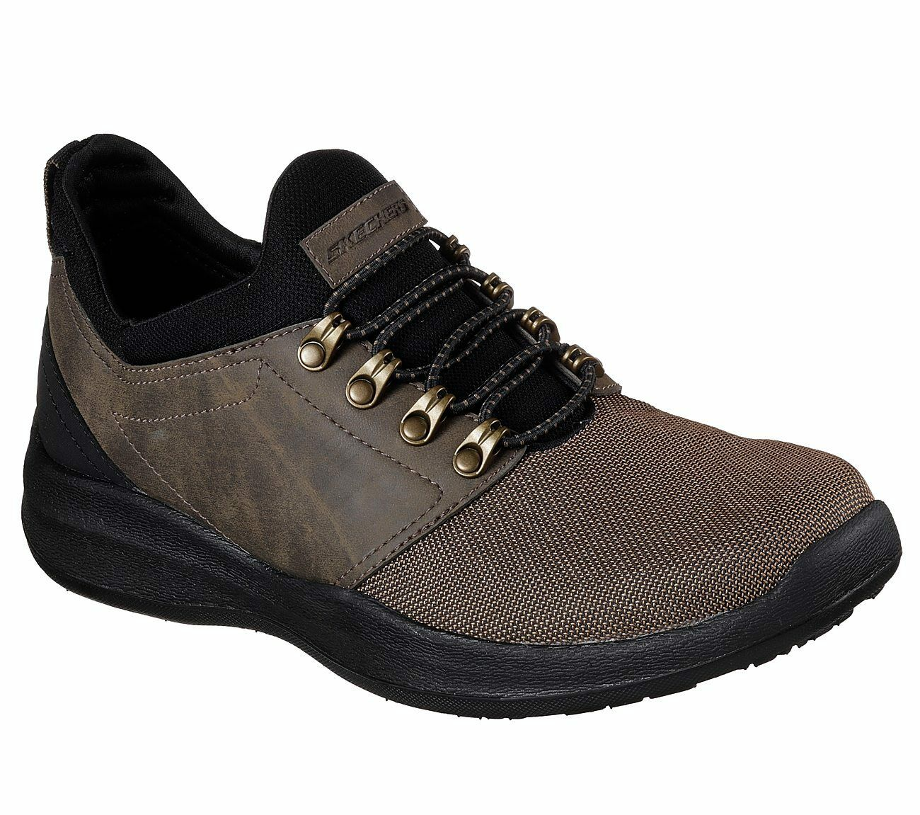 65173 Brown Skechers shoes Men Memory Foam Sporty Casual Comfort Slip On Bungee