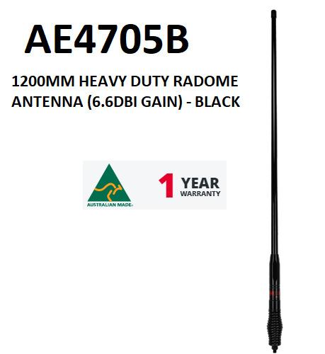 GME 1200MM HEAVY DUTY RADOME ANTENNA - BLACK  AE4705B  1 YR WARRANTY. Available Now for 163.14