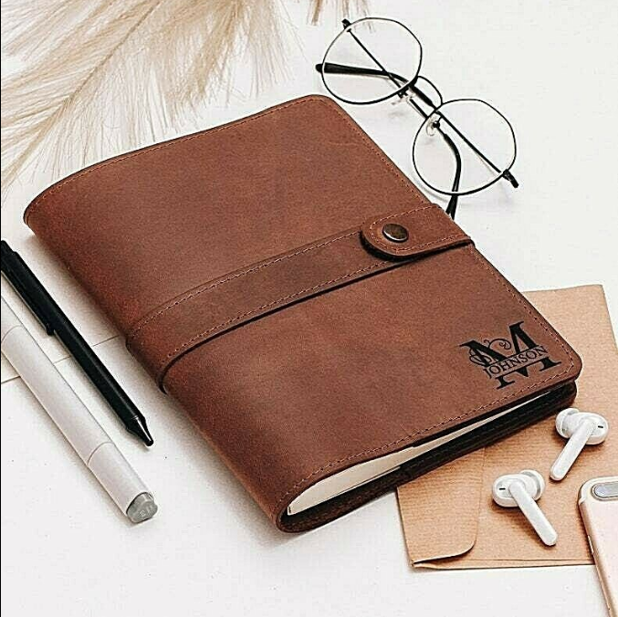 Genuine Leather A5 Journal Cover A6 Personalized Wedding Gift Magazine Vintage