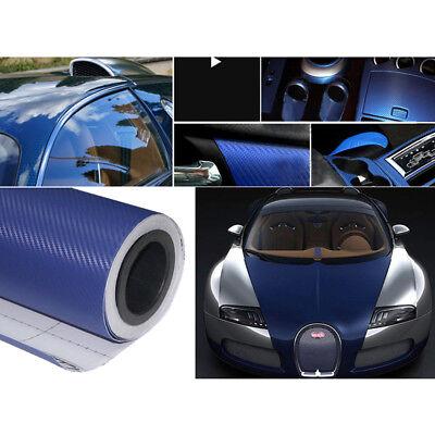 Carbon Fiber Sheet Wrap Car Auto Exterior DIY Paper Decal Sticker 200x30CM