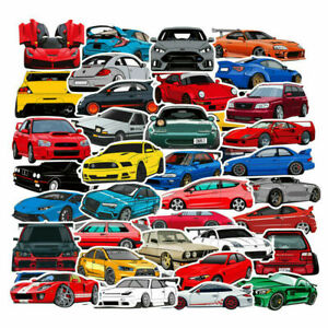 100-PCS-Unique-Cartoon-Car-stickers-water-and-sunproof