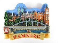 Hamburg Elbbrücke Poly Reise Magnet Souvenir Germany NEU