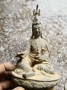China-old-bronze-Collections-from-the-countryside-Tibet-Buddha-La-Guanyin-statue