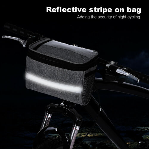 Outdoor Cycle Pouch Front Basket Bike Handlebar Bag Bicycle Pannier Frame Tube