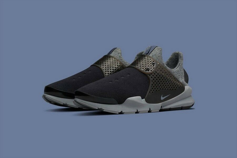 Nike Sock Dart Tech Fleece Black Cool Grey Nikelab 834669-001 New shoes for men and women, limited time discount