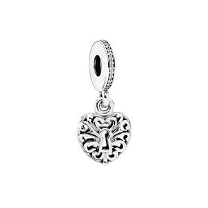 Genuine pandora silver intricate heart lock pendant charm 791876cz image is loading genuine pandora silver intricate heart lock pendant charm aloadofball Gallery