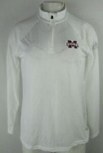Michigan State NCAA Women's White Adidas 1/4-Zip Climalite Track Jacket
