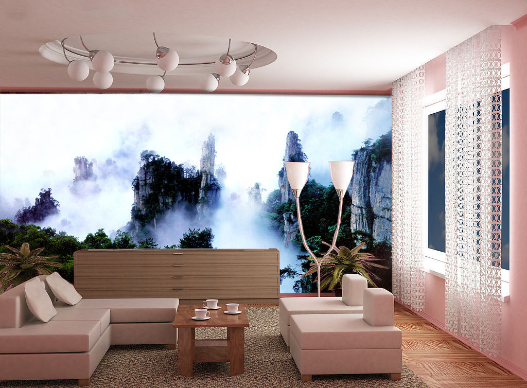 3D Clouds in the mountains 55 Wall Paper Wall Print Decal Wall Deco AJ WALLPAPER