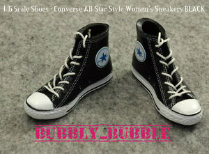 187b1846aaaa 1 6 Converse All Star Style Sneakers BLACK For 12