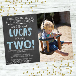 Image Is Loading SECOND BIRTHDAY PARTY INVITATIONS BOYS 2ND
