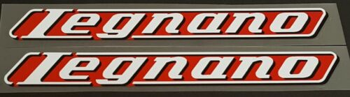 White//Black//Tomato sku 10568 1 Pair Legnano Down Tube Decals