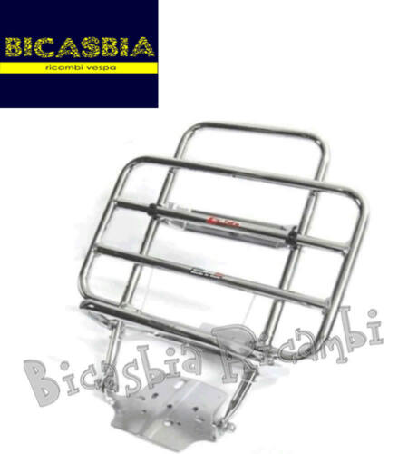 0403 LUGGAGE RACK REAR CHROMEPLATED VESPA 50 125 SPECIAL R L N ET3 PRIMAVERA