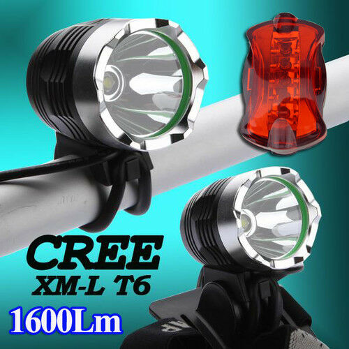 2 fanali ripeto  2 CREE XM-L T6 LED 1600LM HeadLight Bike Luce + Fanale poster  factory direct and quick delivery