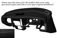Negro Stitch Dash Dashboard Leather Piel tapa se ajusta Mitsubishi L200 K74 98-06