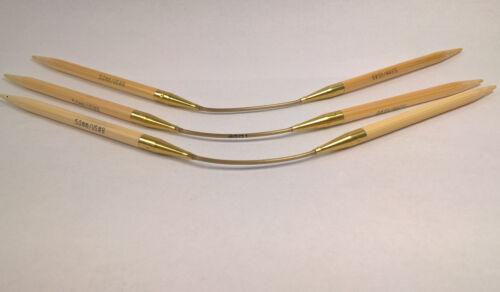Addi Crasy Trio Aiguilles à Tricoter Circulaires Bambou 24 cm 3 Pièces