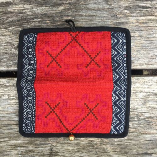 Hmong tribal tailandés hippy hippie boho étnico bolso Cartera Plegable Inusual Regalo