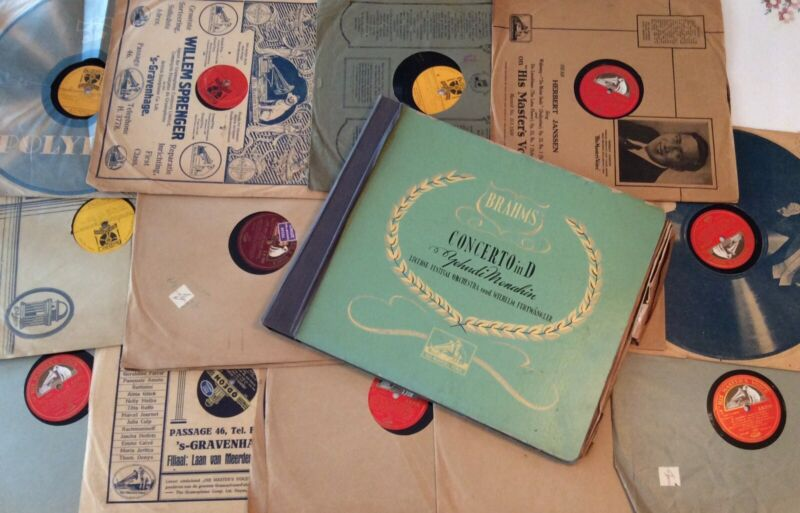Various Vintage Records LPs 78s (about 18 in total) - some His Master's Voice