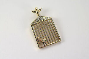 14k yellow gold custom rolls royce front grill pendant with diamonds image is loading 14k yellow gold custom rolls royce front grill aloadofball Gallery