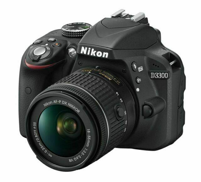 Nikon D3300 24.2 MP AF-P w/18-55mm VR Kit Black International Version #1561