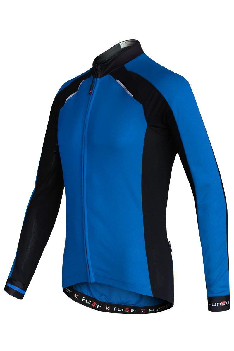 Maglione da Ciclismo uomoica Lunga divertimentoky Talana Uomo Blu Nero J-730-LW X-gree