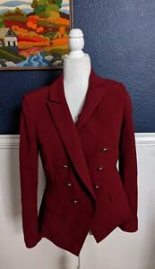 White-House-Black-Market-Red-Trophy-Jacket-Blazer-Double-Breasted-Sz-4-Small